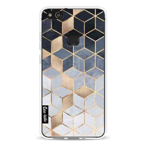 Casetastic Softcover Huawei P10 Lite - Soft Blue Gradient Cubes