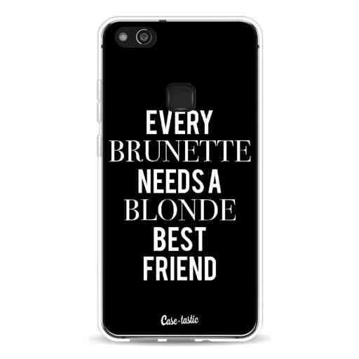 Casetastic Softcover Huawei P10 Lite - Every Brunette Needs A Blonde Black