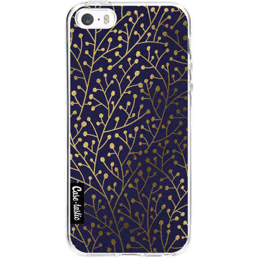 Casetastic Softcover Apple iPhone 5 / 5s / SE - Berry Branches Navy Gold