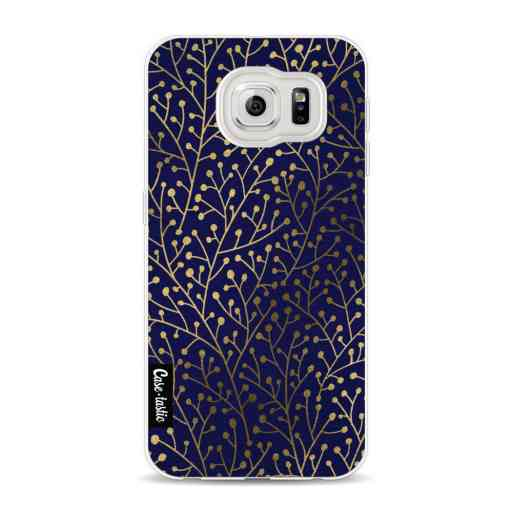 Casetastic Softcover Samsung Galaxy S6 - Berry Branches Navy Gold