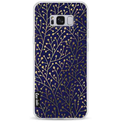Casetastic Softcover Samsung Galaxy S8 Plus - Berry Branches Navy Gold