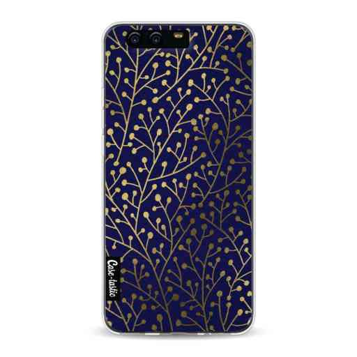 Casetastic Softcover Huawei P10 - Berry Branches Navy Gold