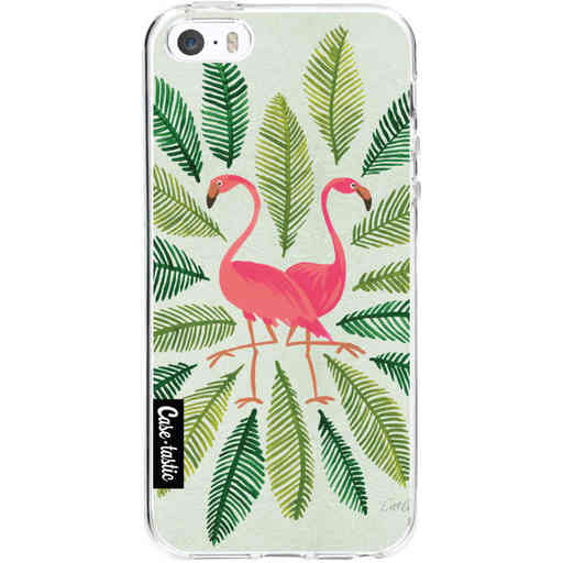 Casetastic Softcover Apple iPhone 5 / 5s / SE - Flamingos Green