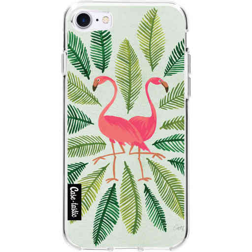 Casetastic Softcover Apple iPhone 7 / 8 / SE (2020) - Flamingos Green