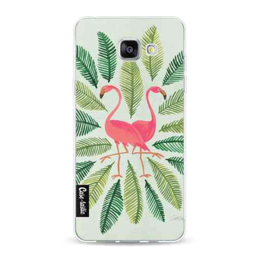 Casetastic Softcover Samsung Galaxy A5 (2016) - Flamingos Green