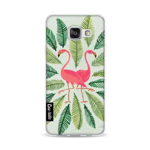 Casetastic Softcover Samsung Galaxy A3 (2016) - Flamingos Green