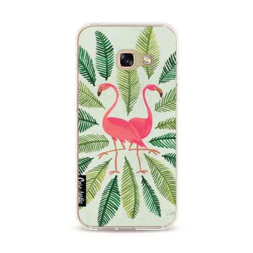 Casetastic Softcover Samsung Galaxy A3 (2017) - Flamingos Green
