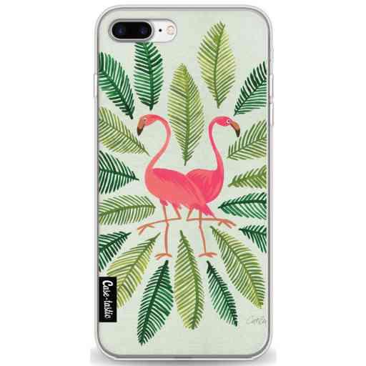 Casetastic Softcover Apple iPhone 7 Plus / 8 Plus - Flamingos Green