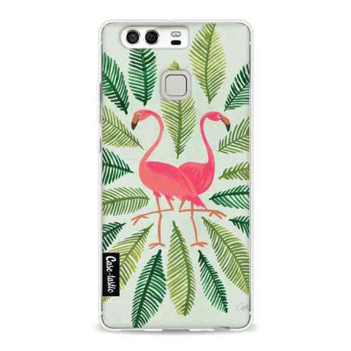 Casetastic Softcover Huawei P9  - Flamingos Green