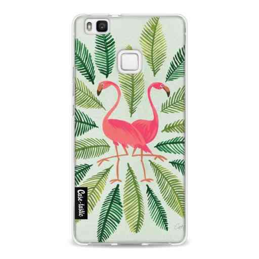 Casetastic Softcover Huawei P9 Lite - Flamingos Green