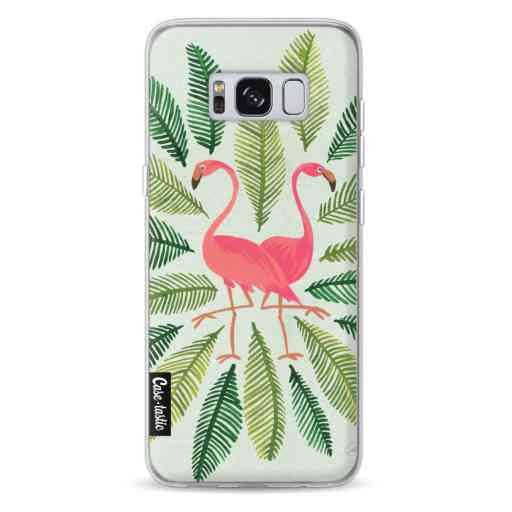 Casetastic Softcover Samsung Galaxy S8 - Flamingos Green