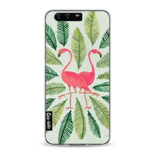 Casetastic Softcover Huawei P10 - Flamingos Green