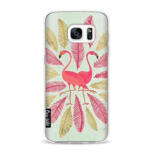 Casetastic Softcover Samsung Galaxy S7 - Flamingos Pink
