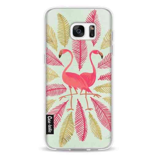 Casetastic Softcover Samsung Galaxy S7 Edge - Flamingos Pink
