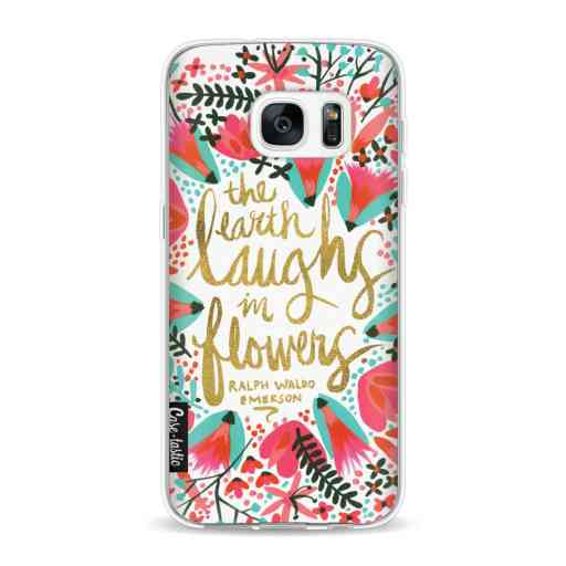 Casetastic Softcover Samsung Galaxy S7 - Laughs Flowers Pink