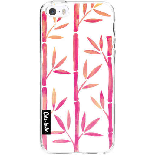 Casetastic Softcover Apple iPhone 5 / 5s / SE - Pink Bamboo Pattern