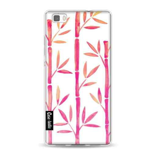 Casetastic Softcover Huawei P8 Lite (2015) - Pink Bamboo Pattern