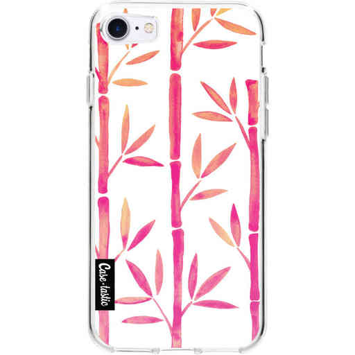 Casetastic Softcover Apple iPhone 7 / 8 / SE (2020) - Pink Bamboo Pattern