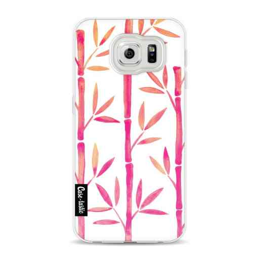 Casetastic Softcover Samsung Galaxy S6 - Pink Bamboo Pattern