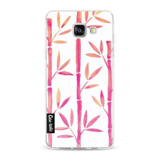 Casetastic Softcover Samsung Galaxy A5 (2016) - Pink Bamboo Pattern