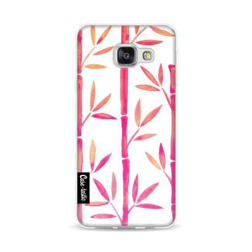 Casetastic Softcover Samsung Galaxy A3 (2016) - Pink Bamboo Pattern