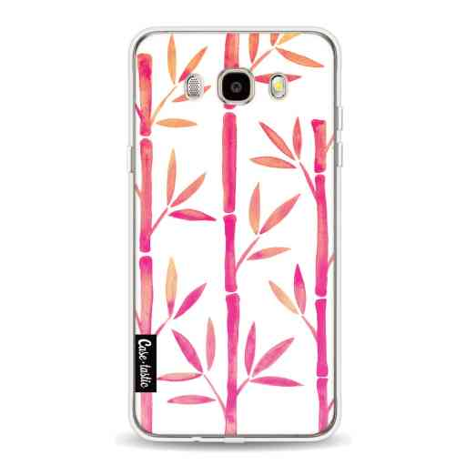Casetastic Softcover Samsung Galaxy J5 (2016) - Pink Bamboo Pattern