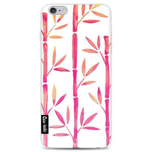 Casetastic Softcover Apple iPhone 6 Plus / 6s Plus - Pink Bamboo Pattern