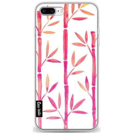 Casetastic Softcover Apple iPhone 7 Plus / 8 Plus - Pink Bamboo Pattern