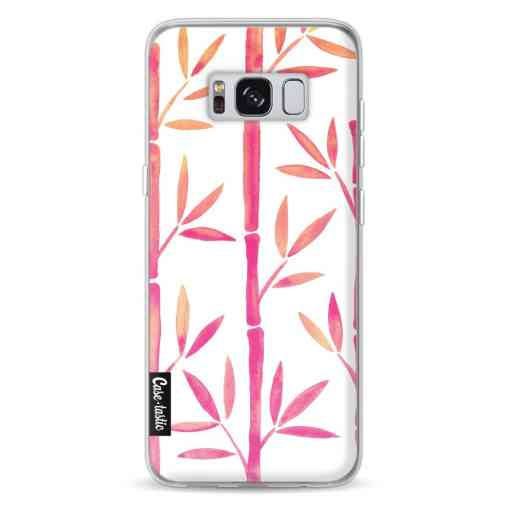 Casetastic Softcover Samsung Galaxy S8 - Pink Bamboo Pattern