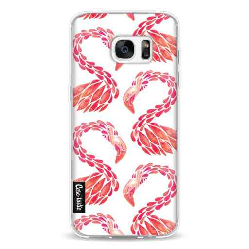 Casetastic Softcover Samsung Galaxy S7 Edge - Pink Flamingo Pattern