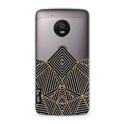Casetastic Softcover Motorola Moto G5 - Abstraction Half Transparent