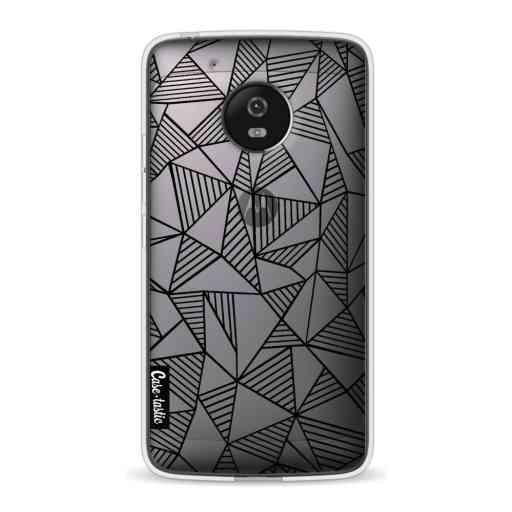 Casetastic Softcover Motorola Moto G5 - Abstraction Lines Black Transparent