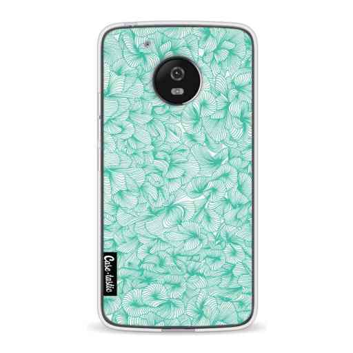 Casetastic Softcover Motorola Moto G5 - Abstract Pattern Turquoise