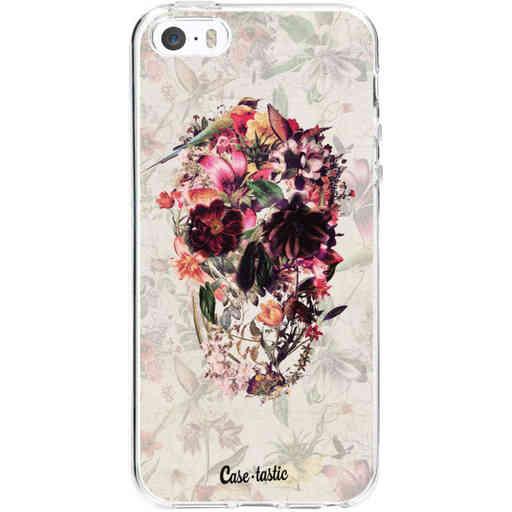 Casetastic Softcover Apple iPhone 5 / 5s / SE - Flower Skull