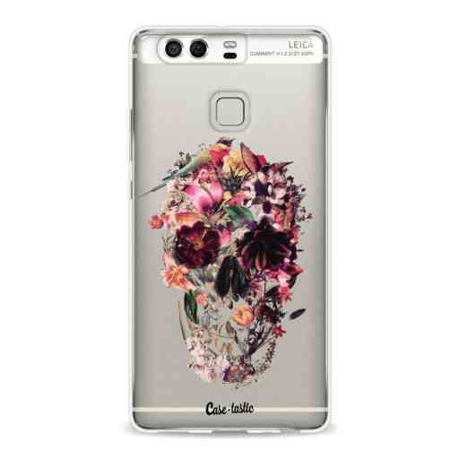 Casetastic Softcover Huawei P9  - Transparent Skull