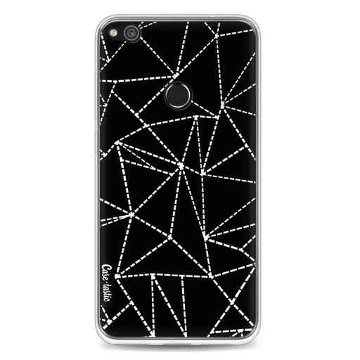 Casetastic Softcover Huawei P8 Lite (2017) - Abstract Dotted Lines Black
