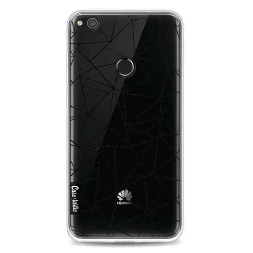 Casetastic Softcover Huawei P8 Lite (2017) - Abstraction Outline Black Transparent