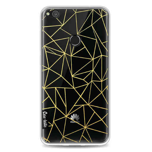 Casetastic Softcover Huawei P8 Lite (2017) - Abstraction Outline Gold Transparent