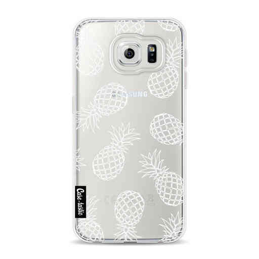 Casetastic Softcover Samsung Galaxy S6 - Pineapples Outline