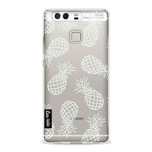 Casetastic Softcover Huawei P9  - Pineapples Outline