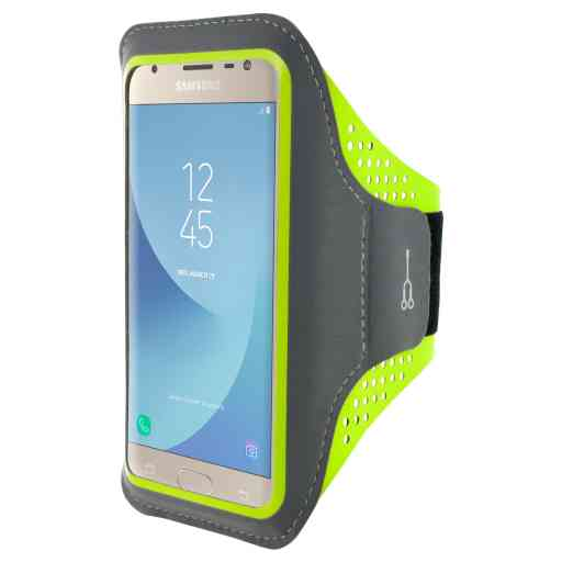 Casetastic Comfort Fit Sport Armband Samsung Galaxy J3 (2017) Neon Green