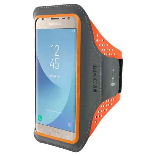 Casetastic Comfort Fit Sport Armband Samsung Galaxy J3 (2017) Neon Orange