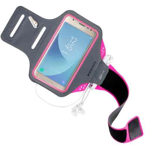 Casetastic Comfort Fit Sport Armband Samsung Galaxy J3 (2017) Neon Pink