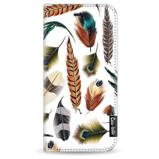 Casetastic Wallet Case White Apple iPhone 7 / 8 - Feathers Multi