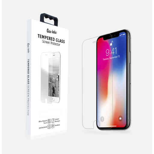 Casetastic Tempered Glass Screenprotector Apple iPhone X