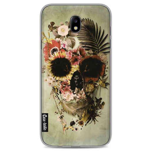 Casetastic Softcover Samsung Galaxy J7 (2017) - Garden Skull Light