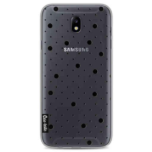 Casetastic Softcover Samsung Galaxy J7 (2017) - Pin Points Polka Black Transparent