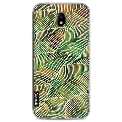 Casetastic Softcover Samsung Galaxy J7 (2017) - Tropical Leaves Yellow