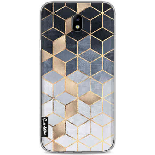 Casetastic Softcover Samsung Galaxy J7 (2017) - Soft Blue Gradient Cubes