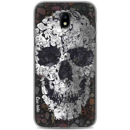 Casetastic Softcover Samsung Galaxy J5 (2017) - Doodle Skull BW